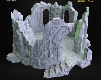 Ruin altar ancient eldritch portal building scenery terrain | Medieval fantasy | wargame Scenery | | 28 - 32mm scale |   D&D | Pathfinder