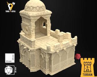 Merchant house desert sand building scenery terrain  | Medieval fantasy | wargame Scenery | | 28 - 32mm scale |   D&D | Pathfinder