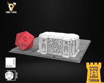 Altar Temple cult terrain sceneries | Dungeons and Dragons Terrain | Medieval fantasy | wargame | DnD Terrain | Tabletop Terrain
