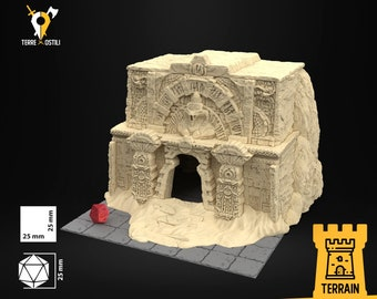 Tomb multi floor sand building scenery terrain | Medieval fantasy | wargame Scenery | | 28 - 32mm scale |   D&D | Pathfinder