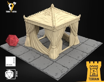 Tent noble oasis sheikh scenery terrain | Medieval fantasy | wargame Scenery | | 28 - 32mm scale |   D&D | Pathfinder
