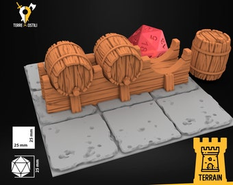 Keg tavern brewery scenery | Dungeons and Dragons Terrain | Medieval fantasy | wargame Scenery | DnD Terrain | Tabletop Terrain
