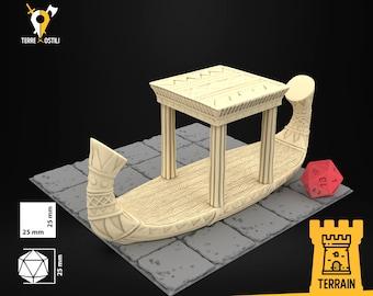 Barge boat egypt desert scenery terrain | Dungeons and Dragons Terrain | Medieval fantasy | wargame Scenery | DnD Terrain | Tabletop Terrain