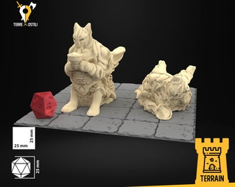 Old statues monuments scenery terrain | Dungeons and Dragons Terrain | Medieval fantasy | wargame Scenery | Tabletop Terrain