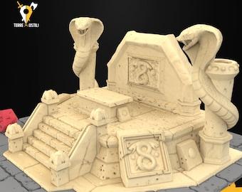 Snake altar building scenery terrain | Medieval fantasy | wargame Scenery | | 28 - 32mm scale |   D&D | Pathfinder