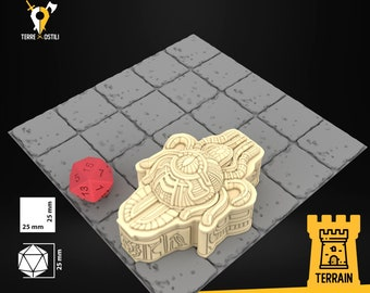 Sarcophagus tomb Eye beast scenery terrain | Dungeons and Dragons Terrain | Medieval fantasy | wargame Scenery | Tabletop Terrain