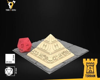 Pyramid monument map scenery terrain | Dungeons and Dragons Terrain | Medieval fantasy | wargame Scenery | Tabletop Terrain