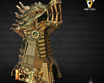 Clockwork dragon Dice Tower DnD, Dungeons and Dragons , Pathfinder, Starfinder, Frostgrave, Mordheim, Cthulhu, lovecraft, 9 age