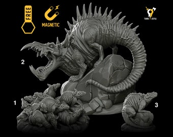 Dire rats swarm lovecraftian Dungeons and dragons miniature paint also for D&D DnD RPG tabletop miniature free initiative tracker