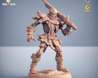 Skeleton warrior army miniature Dungeons and dragons, pathfinder, DnD , Age of Sigmar, frostgrave, mordheim | RPG tabletop miniature
