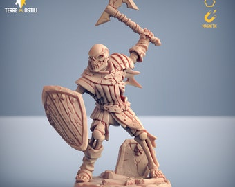 Skeleton brute army miniature Dungeons and dragons, pathfinder, DnD , Age of Sigmar, frostgrave, mordheim | RPG tabletop miniature