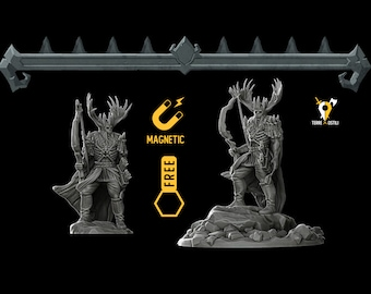 Hunter undead Dungeons and dragons miniature paint also for D&D DnD RPG tabletop miniature free initiative tracker