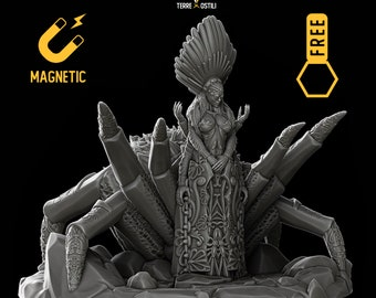 Lolth Spider Goddes miniature Dungeons and dragons, DnD , Age of Sigmar, W40k, 9th Age, kow, mordheim | RPG tabletop miniature
