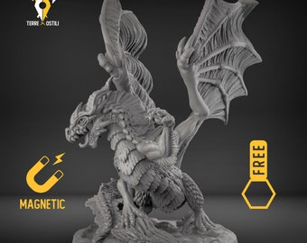 Ancient Dragon DnD miniatures | Dungeons and dragons D&D RPG tabletop miniature paint free initiative tracker