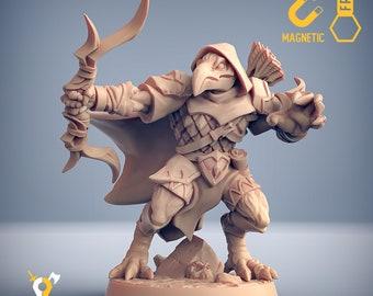 Tengu archer kenku birdfolk Aarakocra  miniature Dungeons and dragons, pathfinder, DnD , Age of Sigmar, frostgrave,| RPG tabletop miniature
