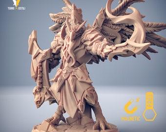 Aarakocra paladin champion leader Tengu kenku miniature Dungeons and dragons, pathfinder, DnD , Age of Sigmar, RPG tabletop miniature