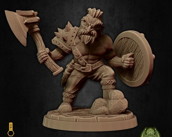 Scout dwarf barbarian miniature Dungeons and dragons, pathfinder, DnD , Age of Sigmar, frostgrave, mordheim | RPG tabletop miniature