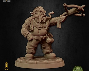 Hunter dwarf crossbow miniature Dungeons and dragons, pathfinder, DnD , Age of Sigmar, frostgrave, mordheim | RPG tabletop miniature