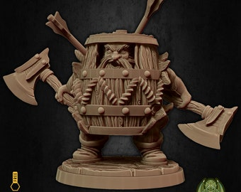 Barbarian dwarf keg armor miniature Dungeons and dragons, pathfinder, DnD , Age of Sigmar, frostgrave, mordheim | RPG tabletop miniature