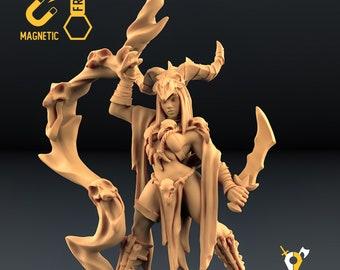 Druid warlock necromancer miniature Dungeons and dragons, pathfinder, DnD , Age of Sigmar, frostgrave, mordheim | RPG tabletop miniature