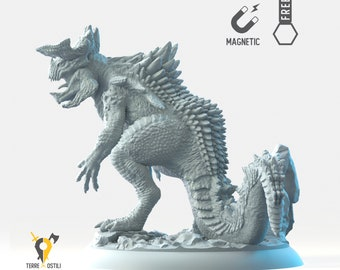 Kaiju miniature Dungeons and dragons, DnD , Age of Sigmar, W40k, 9th Age, kow, mordheim | RPG tabletop miniature