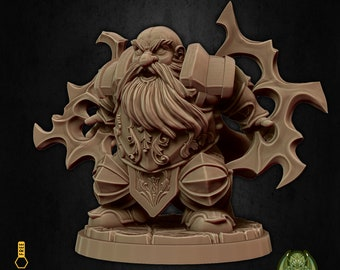 Cleric dwarf divine warrior miniature Dungeons and dragons, pathfinder, DnD , Age of Sigmar, frostgrave, mordheim | RPG tabletop miniature