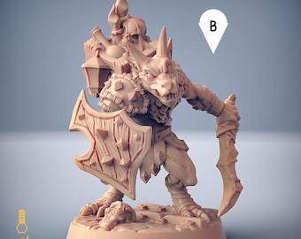 Kobold warrior explorer cultist miniature Dungeons and dragons, pathfinder, DnD , frostgrave, mordheim | RPG tabletop miniature