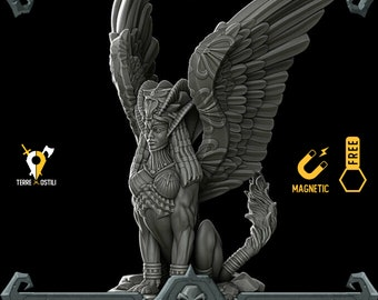 Sphinx egyptian lamia miniature Dungeons and dragons, DnD , Age of Sigmar, W40k, 9th Age, kow, mordheim   RPG tabletop miniature