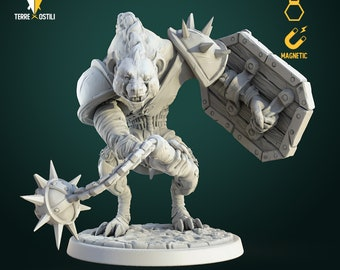 Gnoll marauder miniature Dungeons and dragons, pathfinder, DnD , frostgrave, mordheim | RPG tabletop miniature