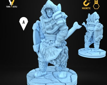 Ice tribe warrior inuit miniature Dungeons and dragons, DnD , Age of Sigmar, W40k, 9th Age, kow, mordheim | RPG tabletop miniature