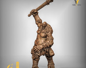 Titan Cyclops giant miniature Dungeons and dragons, pathfinder, DnD , Age of Sigmar, frostgrave, mordheim | RPG tabletop miniature