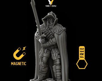 Vampire Hunter miniature Dungeons and dragons, DnD , Age of Sigmar, W40k, 9th Age, kow, mordheim | RPG tabletop miniature