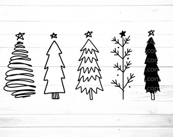Christmas Tree Clipart Black And White - 60 cliparts