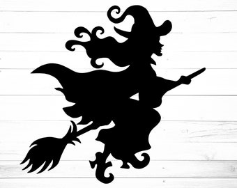 graphic regarding Witch Silhouette Printable identified as Witch silhouette Etsy