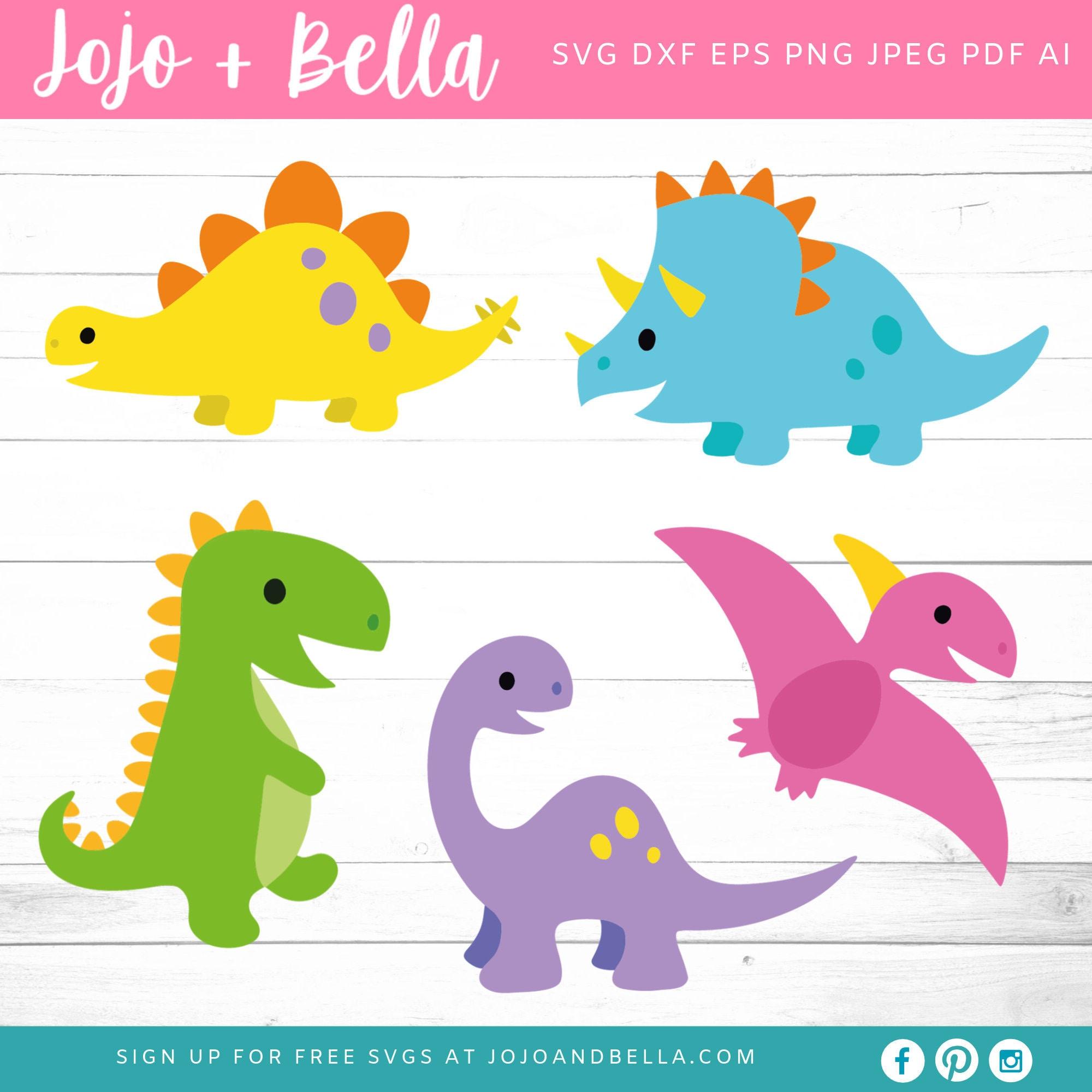 Dinosaur Svg Bundle Baby Dinosaur Svg Birthday Pack Etsy