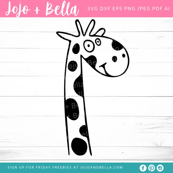 Giraffe Svg Svg Dxf Eps Jpeg Png Ai Pdf Cut File Etsy