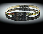 Inspirational Bracelet - Ethnic Leather Steel Customised.