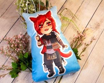 G'raha Tia 11inch Anime Video Game Plush Pillow FFXIV Final Fantasy 14