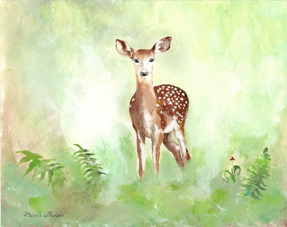 acrylic doe painting original watercolor deer art etsy acrylic doe painting original watercolor deer art child s bedroom art real painting deer painting illustration forest pretty