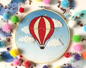 Balloon Embroidery Kit, needlecraft pattern, embroidery pattern, beginners needlecraft, modern embroidery, craft kit, embroidery art, diy