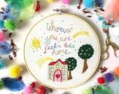 Home Embroidery Kit, needlecraft pattern, embroidery pattern, beginners needlecraft, modern embroidery, hoop art, embroidery art, diy kit
