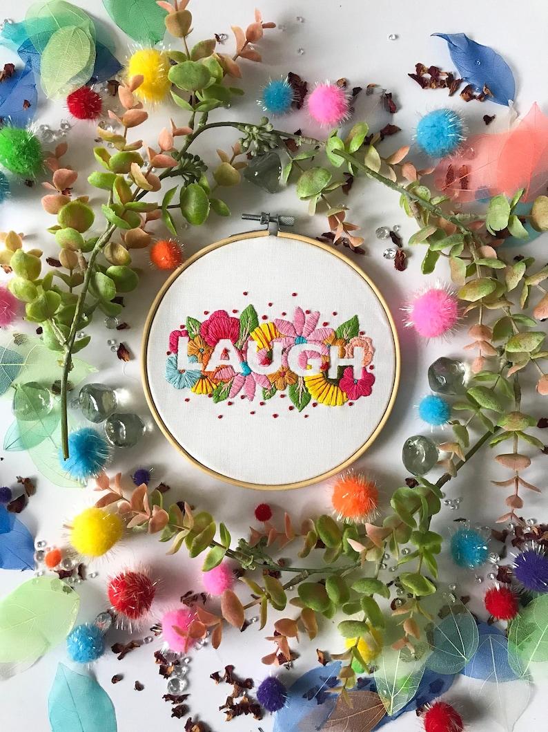 Laugh Embroidery Kit needlecraft kit embroidery pattern image 0
