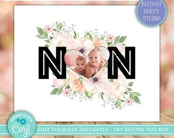Personalised Gran Nan Mother/'s Day Gift Photo Print Grandma Nanna