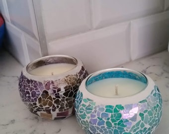 Handpoured Soy Mosaic Candle