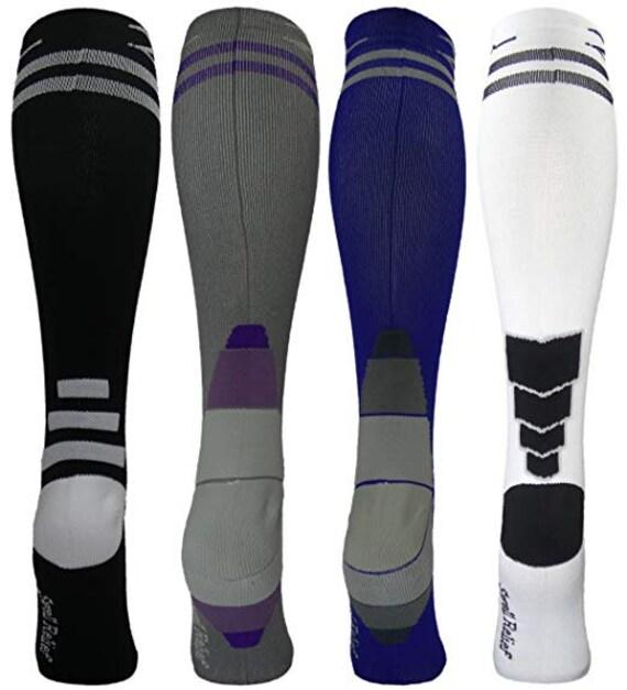 2nd US 4 Pair LargeX-Large Extra Soft Premium Quality Colorful ModerateMedium Graduated Compression Socks 15-20 mmHg Fun Stylish Designs