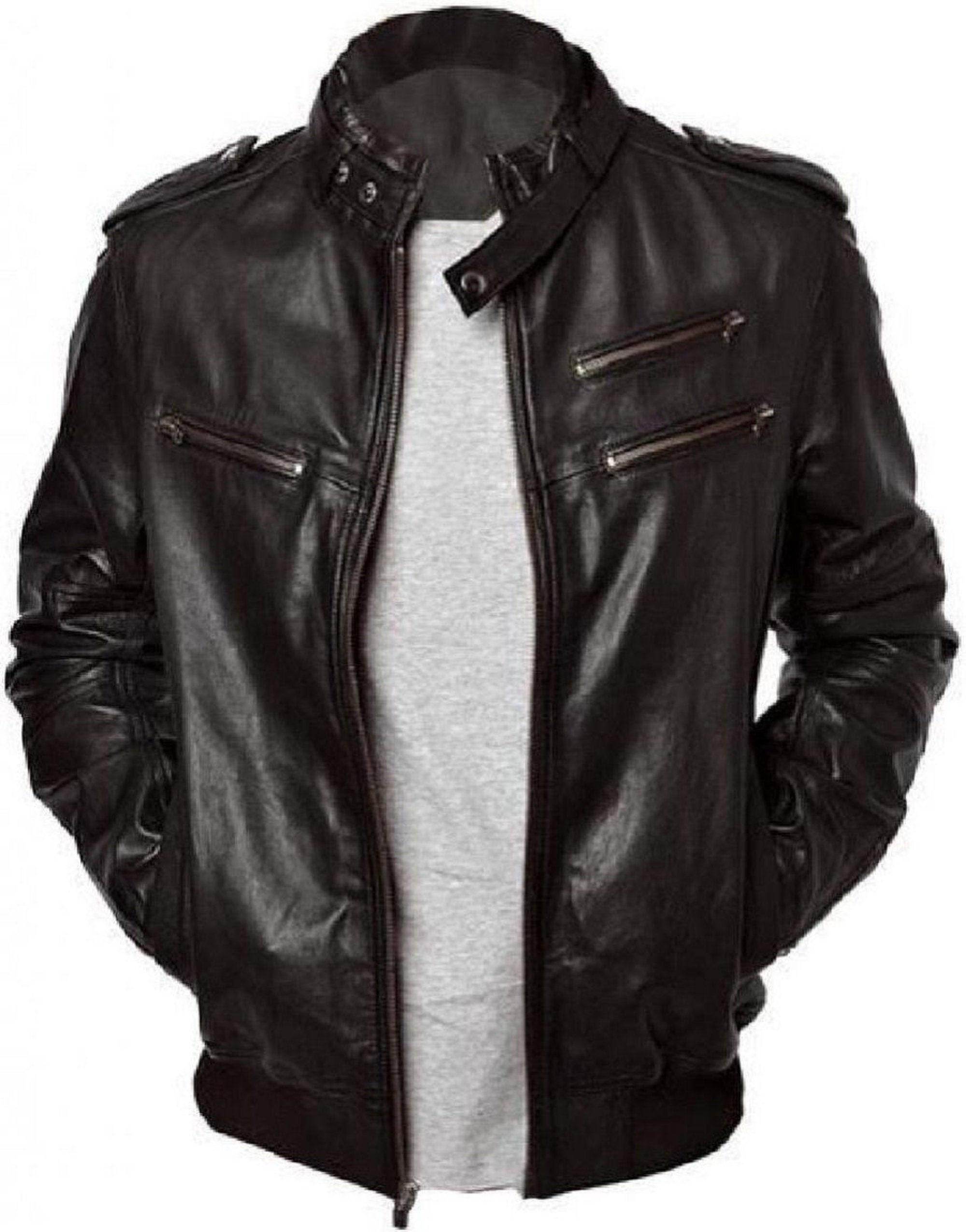 Womens Black Vintage Classic Real Leather Ladies Biker Style Brando Jacket UK