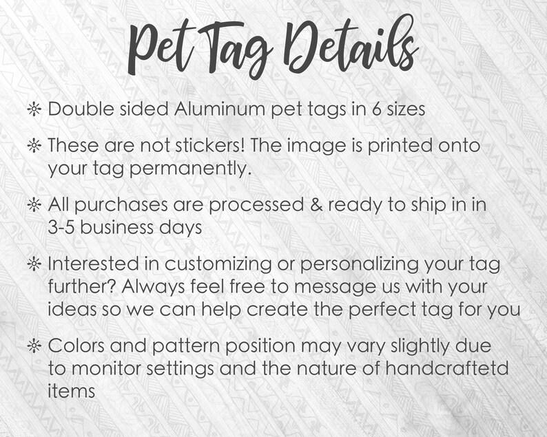 Custom Text Pet Tag Custom Dog Tag Cute Pet Tag Faux Marble Pet ID Tag Cat ID tag Dog Name Tag Girly Pet Tag Personalized Pet ID tag