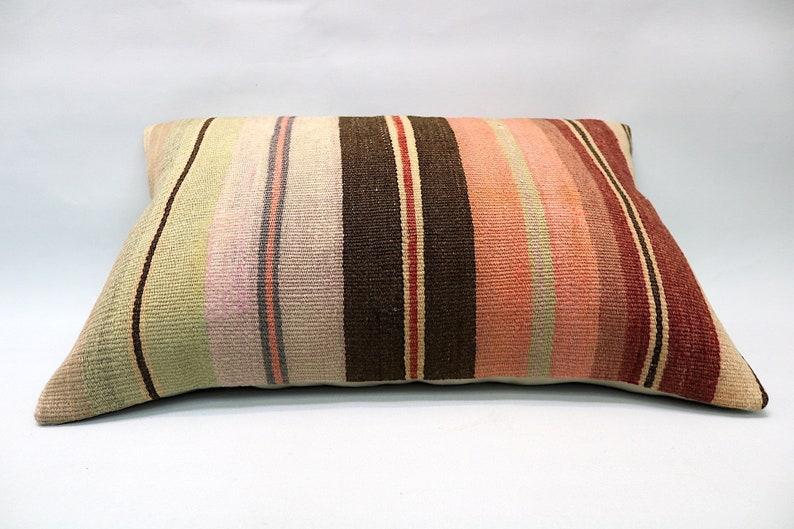 Turkish Pillow Kilim Cushion 16\u201dx24\u201d Vintage Pillow Kilim Pillow Handmade Pillow Kilim Pillow Cover Decorative Pillow Throw Pillow