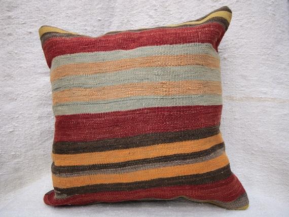 Kilim Pillow Cover 20x20 Decorative