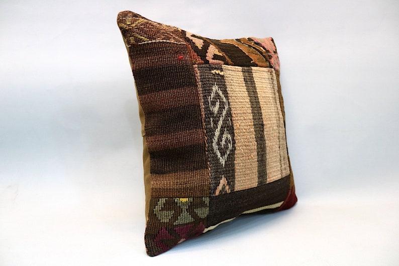 Throw Pillow Sofa Pillow 16\u201dx16\u201d Decorative Kilim Pillow Turkish Pillow Kilim Cushion Vintage Pillow Patchwork Pillow Kilim Pillow